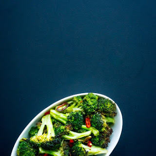 Roasted Broccoli with Garlic, Chile and Lemon Zest