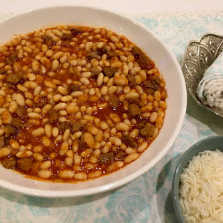 Cannellini Bean Stew With Lamb.