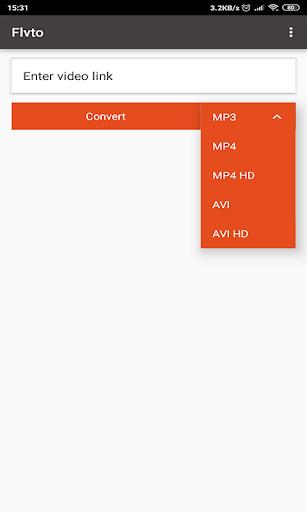 convert video to mp3 flvto