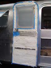 Photo: Even the door was taken apart and sprayed with foam