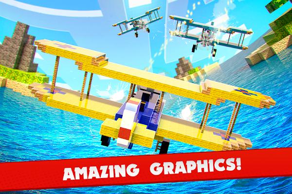 Airplane Cube Craft Block Wars - screenshot