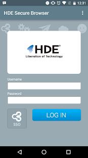 HDE Secure Browser - náhled