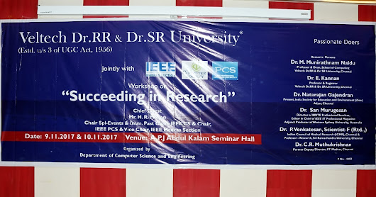 Workshop on Succeeding in Research organized by Department of Computer Science and Engineering