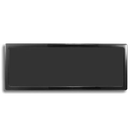DEMCiflex magnetisk filter 3x120mm, rektangulær, sort