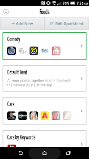 Sparksfly | Manage your social feeds in one App - náhled