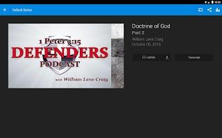 Screenshot of Reasonable Faith