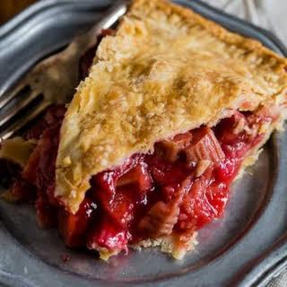 Homemade Strawberry Rhubarb Pie.