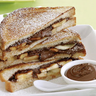 Grilled Banana Nutella Sandwiches