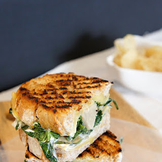 Easily satisfied – Artichoke and spinach grilled cheese sandwich.