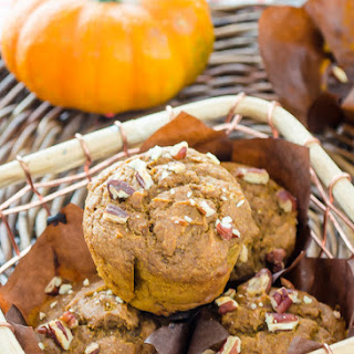 Healthier Pumpkin Molasses Pecan Muffins