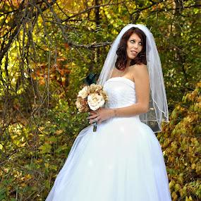 by Colene Draper Anderson - Wedding Bride ( color, wedding, fall, bride, photography )