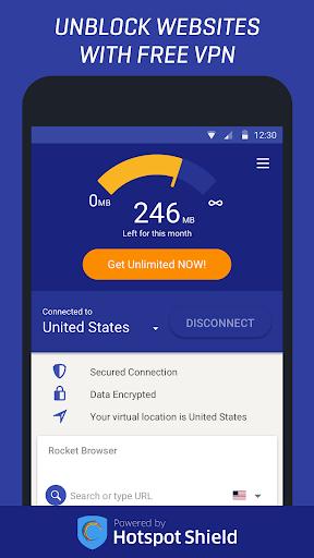 Rocket VPN – Internet Freedom VPN 1.25 screenshots 1