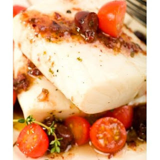 Spicy Tilapia With Olives, Cherry Tomatoes and Garlic