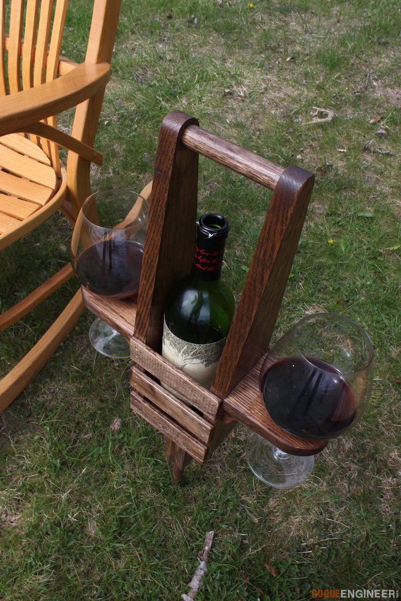 Wine Caddy: These 25 Woodworking Projects For The Garden will help you make some money.