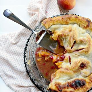 Summer Peach Raspberry Pie