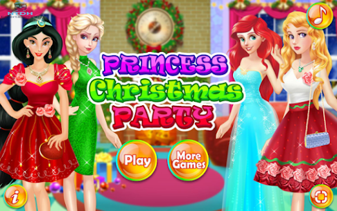 Dress up games for girl – Princess Christmas Party 1