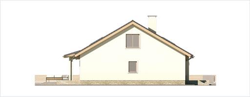 Małgosia bliźniak wersja A bez garażu, parterowa, z wykuszem - Elewacja lewa