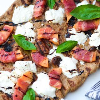 Grilled Cantaloupe, Prosciutto, and Burrata Pizza Recipe