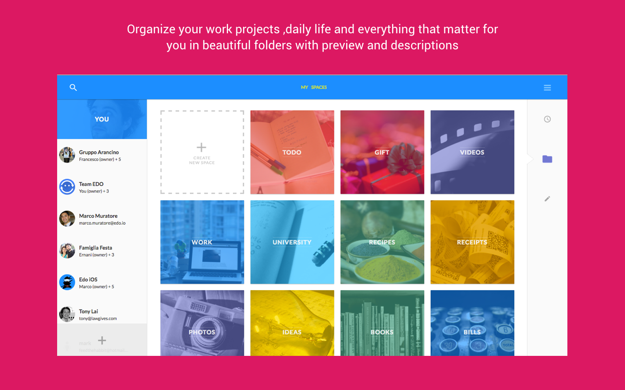 Edo: Organize and share- screenshot