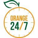Orange 24/7 icon