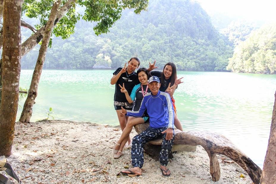 me and my family at Tiktikan Lake, Sohoton