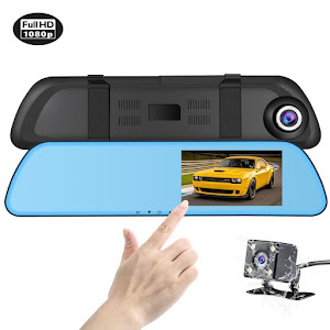 Camera video auto dubla Touch-Screen HD Display 4.3