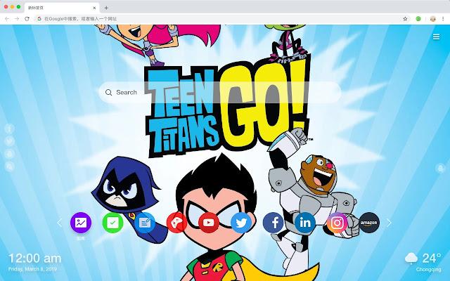 Teen Titan Hot Anime HD New Tabs Theme