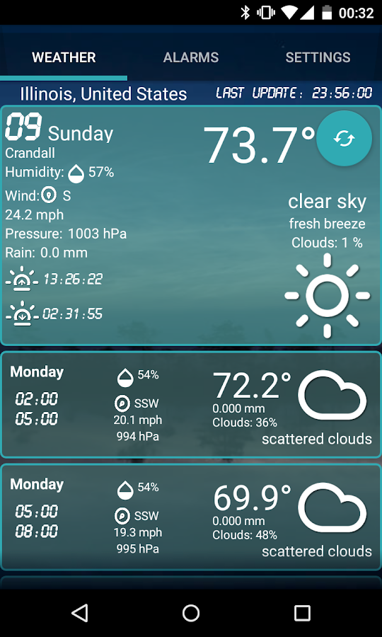 Custom Weather Alerts- screenshot