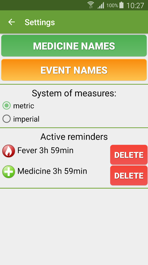 Fever Tracker- screenshot