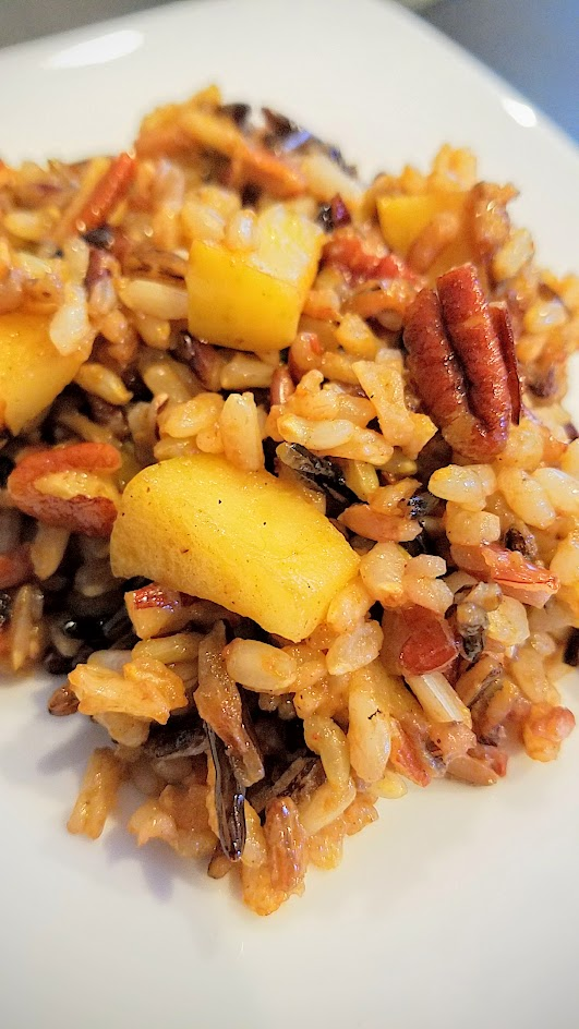Wild Rice Recipe with Apples and Pecans - a great textural dish that also celebrates apples in the fall and is a wonderful side dish to many mains