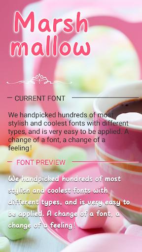Marshmallow Font for FlipFont , Cool Fonts Text screenshots 1