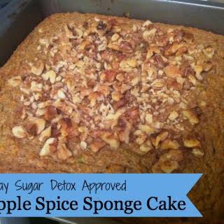 21 Day Sugar Detox Apple Spice Sponge Cake.