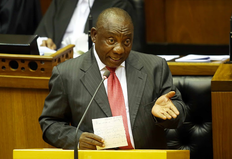President Cyril Ramaphosa at a sitting in parliament. Picture: ESA ALEXANDER/SUNDAY TIMES