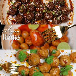 Spicy Mongolian Beef Meatballs.