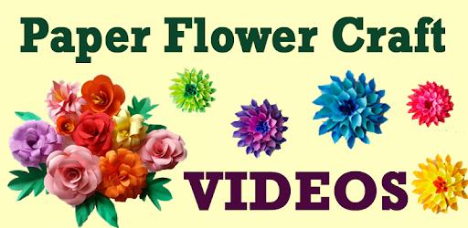 Diy paper flower craft videos apps on google play mightylinksfo