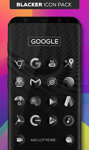 Blacker : Icon Pack app for Android screenshot