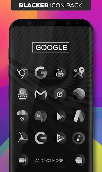 Blacker : Icon Pack Screenshot Image