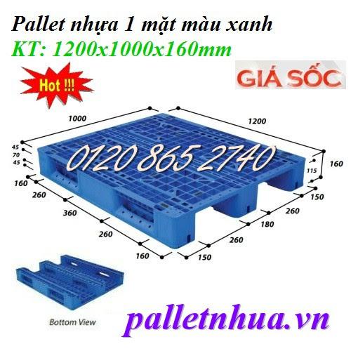 Pallet nhựa 1200x1000x160