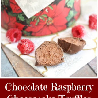 Chocolate Raspberry Cheesecake Truffles