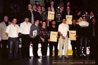 Photo: 2003: 2. Bayerischer Meister Mannschaft verbaut
