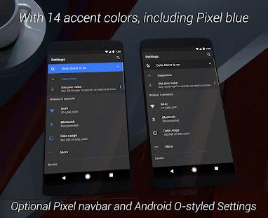 aospUI (Gray) Dark Substratum+Samsung/Pixel Theme Screenshot