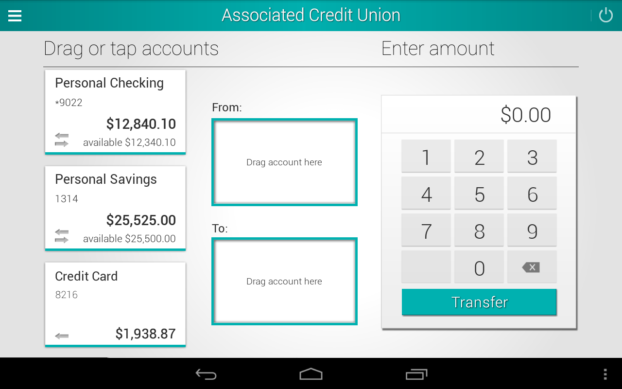 Associated Credit Union Mobile - screenshot