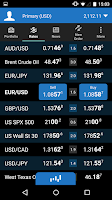Screenshot of OANDA fxTrade for Android