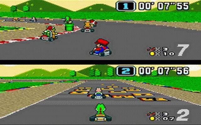 Super Mario Kart - Super Nintendo Emulator