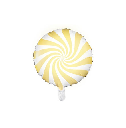 Folieballong - Candy ljusgul