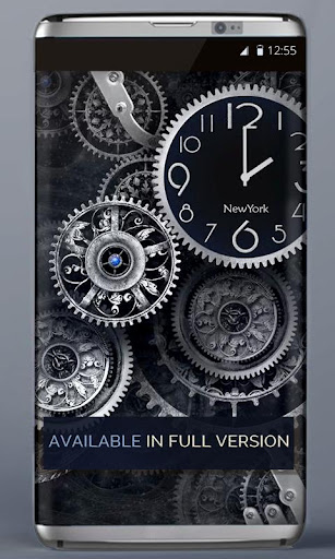 FREE Black Clock LiveWallpaper  screenshots 4