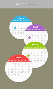 Calendar for Wear OS Screenshot