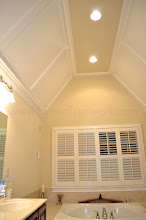Photo: (After) Hamilton's Master Bathroom ceiling boards Collegeville, PA
