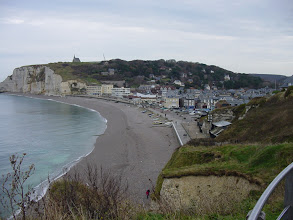 Photo: Another view of town. There are a few remnants of German fortifications from WW II, but Etretat does not have a good natural harbor, and so was not considered a strategic location.