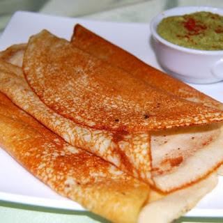 Quinoa Crepes with Cilantro Hummus.